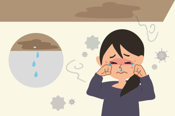 「雨漏り」ポタポタ水が落ちてくるときは結構重症