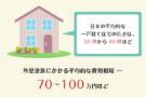 一般の一戸建て住宅の外壁塗装の費用相場ってどのくらい?